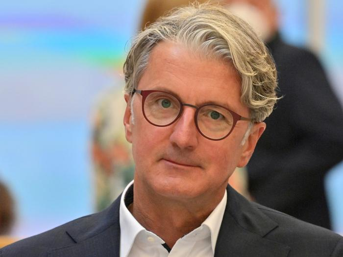 Rupert Stadler, the long-time head of Audi, who is accused of fraud, among other things, at the Munich Regional Court, Munich, Germany, Wednesday, Sept.30, 2020