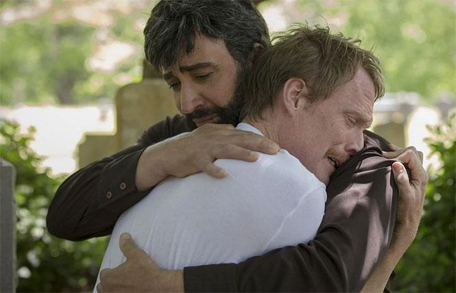 Peter Macdissi and Paul Bettany in 'Uncle Frank'